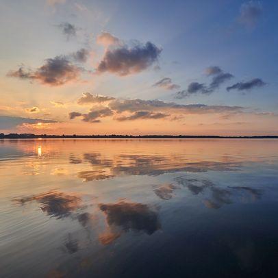 Sonnenuntergang über dem Zwischenahner Meer